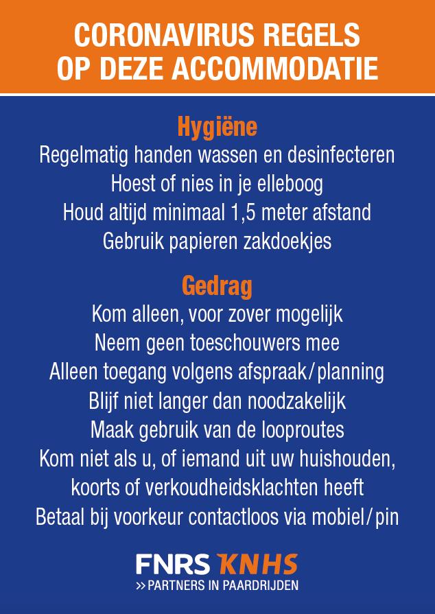 Hygiene regels Meers Paarden Centrum